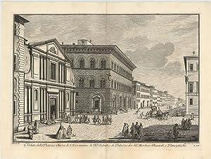 Veduta della Piazza e Chiesa di S: ZOCCHI, Giuseppe.