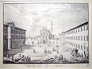 Veduta dela Chiesa, e Piazza d'Ognissanti. [Plate: ZOCCHI, Giuseppe.