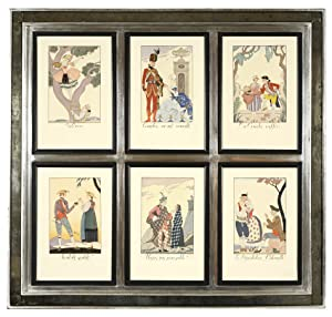 Falbalas & Fanfreluches: A Set of Six: BARBIER, Georges.