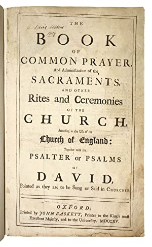 The Holy Bible, Containing the Old and: Church of England]
