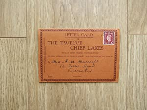 Letter Card of THE TWELVE CHIEF LAKES Twelve Views in Sepia Photogravure