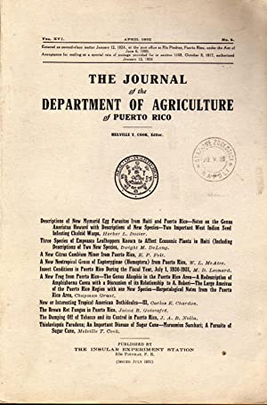 The damping-off of tobacco and its control in Puerto Rico. In 8vo, offp., pp. 40 + 11 pls. Offpri...
