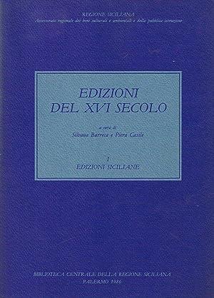 Edizioni del XVI secolo - I Edizioni: Barreca S. &