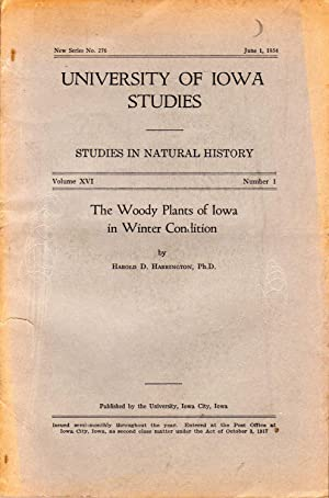 The woody plants of Iowa in winter condition. In 8vo, broch., pp. 109 + 2 plates