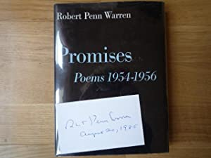 Promises: Poems 1954-1956 (author-signed card), with New: WARREN, Robert Penn