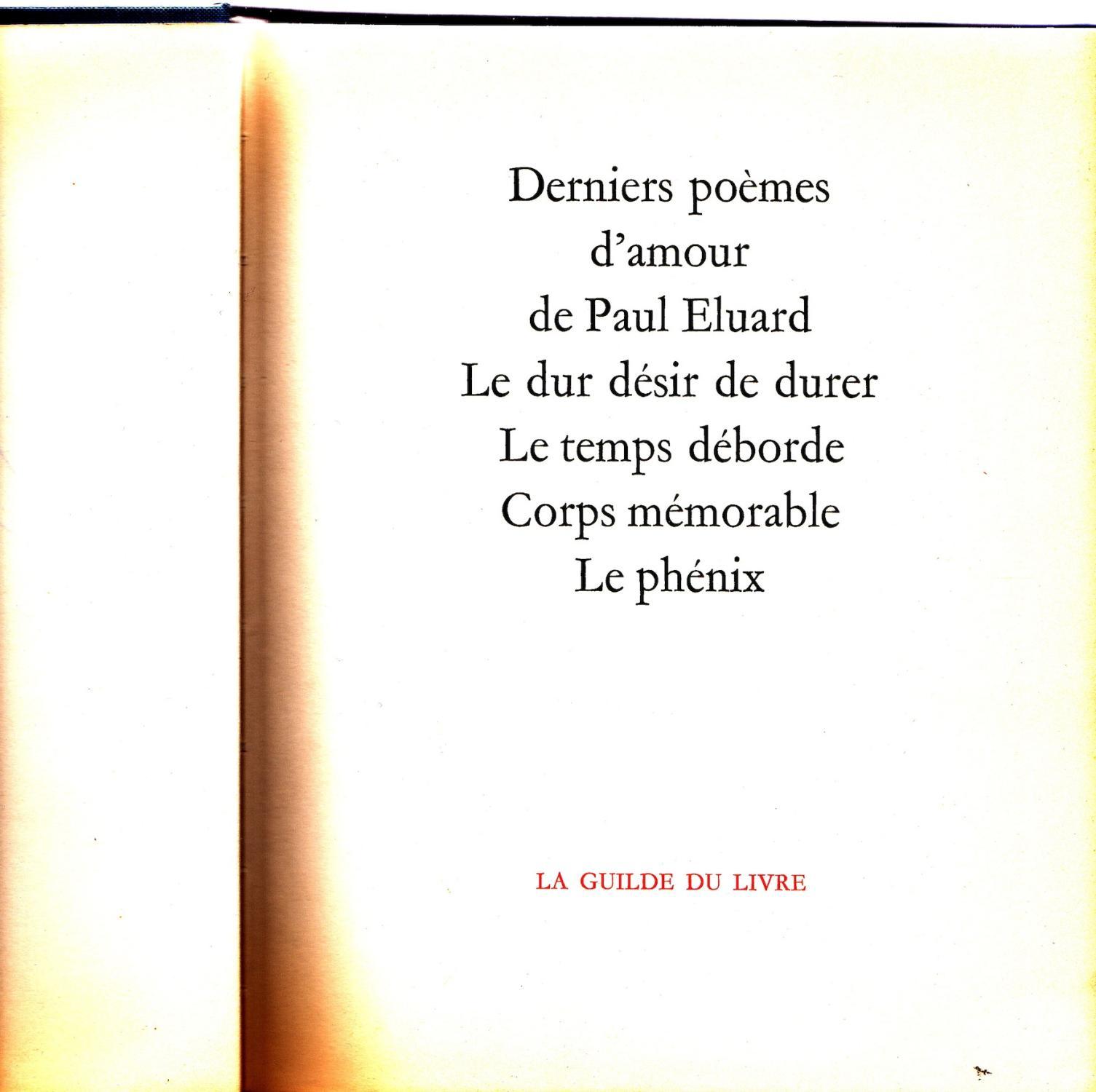 Derniers Poèmes Damour