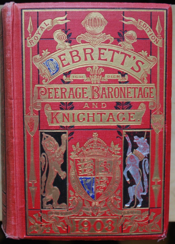 Debrett's Peerage, Baronetage, Knightage & Companionage 1923