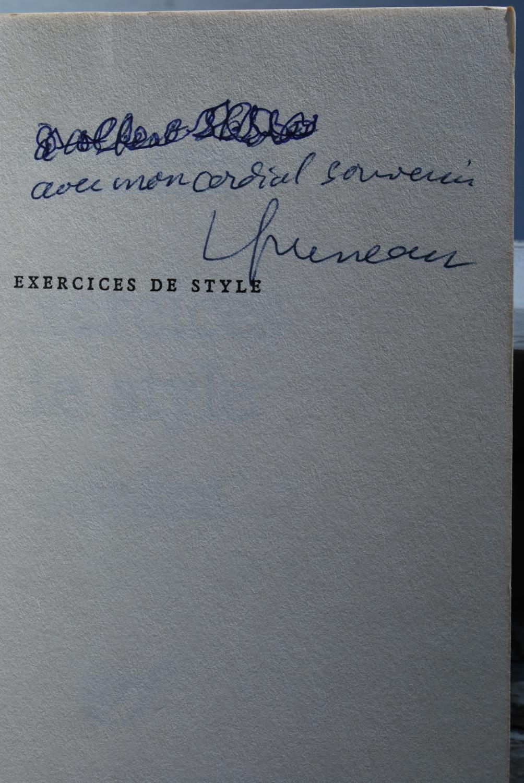 Exercices de style by Raymond Queneau: Bon Couverture ...