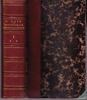 Repertorium bibliographicum: Ludovici Hain