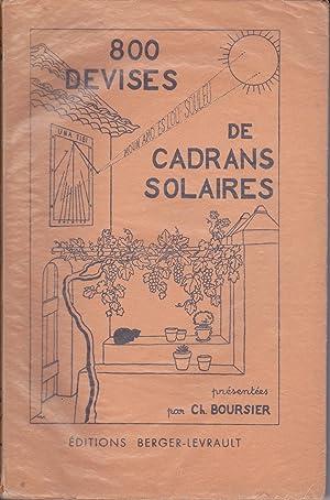 800 devises de cadrans solaires: Charles Boursier