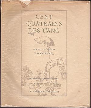 Cent Quatrains des T'Ang.: Lo Ta-Kang (Trad.)