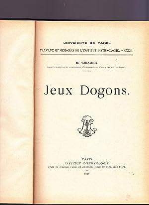 Jeux dogons: M. Griaule
