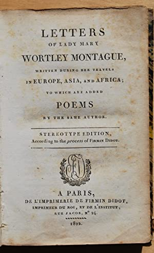 Letters and poems: Lady Mary Wortley