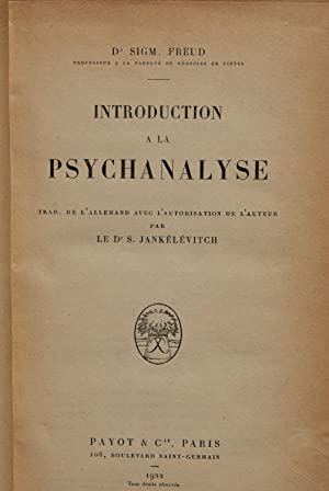 Introduction à la psychanalyse.