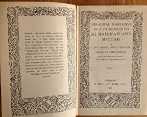 Personal narrative of a pilgrimage to Al Madina and Meccah. Two volumes.