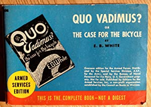 Quo vadimus ? Or the case for the bicycle.