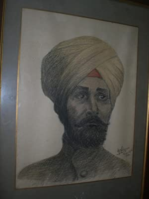 Drawing of a british indian soldier: Labesse