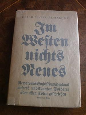 Im Westen nichts Neues: Remarque Erich Maria