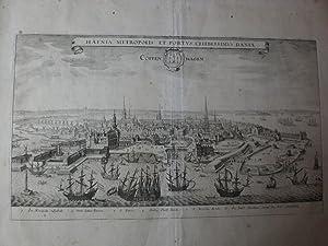 Copenhagen Hafnia Metropolis et Portus celeberrimus Daniae: Merian Matthäus