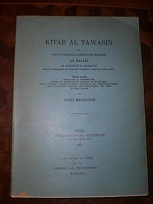 Kitab Al Tawasin: Al Hallaj -