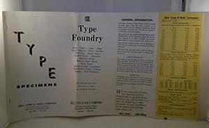 type specimen sheet - AbeBooks