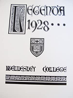 LEGENDA 1928, WELLESLEY COLLEGE YEARBOOK with Honorary MemberS EUGENE O.NEILL and LAURA E. LOCKWOOD