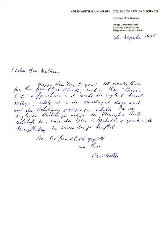 eigenhaendiger brief mit unterschrift heller zvab