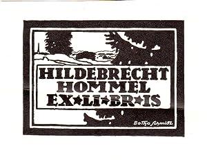 Klischee, Exlibris Hildebrecht Hommel, ca. 7 x: Schmidt, Botho (geb.