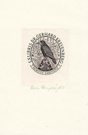 "O-Kupferstich ""Hortus Sanitatis - Exlibris Dr. Gerhard: Ranzoni, Hans d.J."