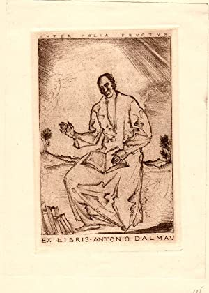 "O-Radierung ""Inter folia fructus Ex Libris Antonio: Frank, Sepp (1889-1970,"