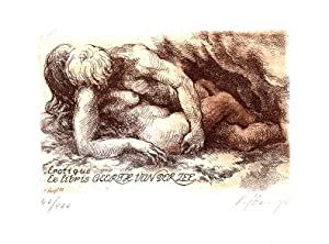 "O-Radierung, braun ""Erotique Ex libris Geerth van: Hampl, Petr (geb."