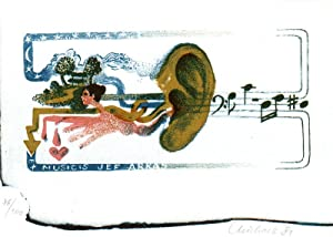 "Flachdruck, mehrfarbig ""ex musicis Jeff Arras"", ca.: Lesarová-Roubikova, Michaela (geb."