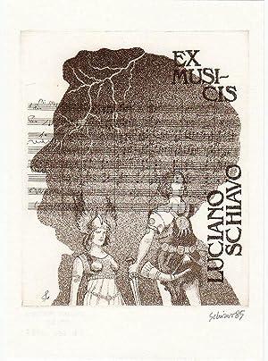 """O-Radierung Aquatinta C3-C5, """"Ex Musicis Luciano Schiavo"""": Schiavo, Luciano (geb."""