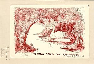 """O-Litho """"Ex Libris Mario de Filippis"""", 11,4: Lucci, Raffaello (Arezzo"""