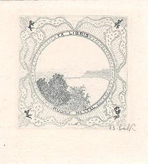 """O-Rad. """"Ex Libris Rudolf Nettel"""", ca. 7,2: Lark-Horovitz, Betty (?"""