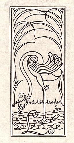 """Klischee , Exlibris """"Dr. Lenze"""", 17 x: Sittel, Victor Hugo"""