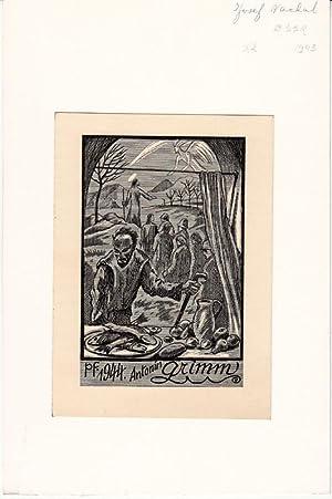 "O-Holzstich ""PF. 1944, Antonin Grimm"", 15 x: Váchal, Josef (Milavcich"
