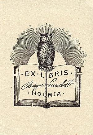 """Klischee """" Ex Libris Birger Lundell Holmia"""",: Sjögren, Arthur (Stockholm"""