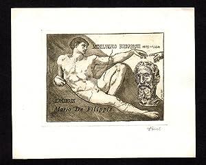 "O-Radierung, hellbraun ""Ex-libris Mario de Filippis -: Viktor, Daniel (geb."