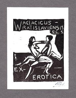 "O-Lithographie, ""Ex-Erotica Waclacicus Wratislaviensis SC.S"", 14 x: Carlson, Börge Elwi"