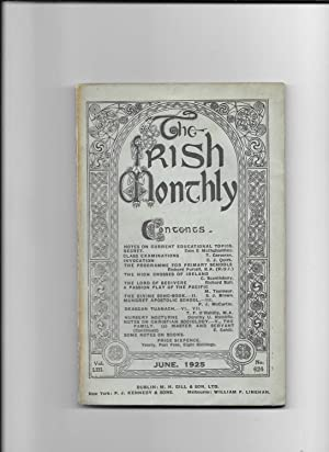 The Irish Monthly. V0l. L111, June,1925. No.