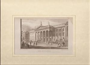 Post Office, Dublin. [General Post Office] [Print].: Petrie, Geo. [illustrator].