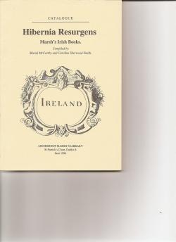 Hibernia Resurgens. Marsh's Irish Books. Catalogue.: McCarthy, Muriel and Caroline ...