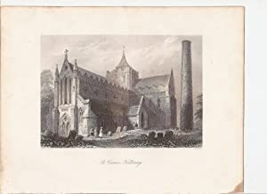 "St. Canice, Kilkenny. [Print] From ""The Scenery and Antiquities of Ireland."": Bartlett, ..."