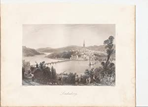 """Londonderry. [Print] From """"The Scenery and Antiquities of Ireland."""": Bartlett, William ..."""