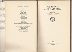 Granite and Rainbow. Essays.: Woolf, Virginia.