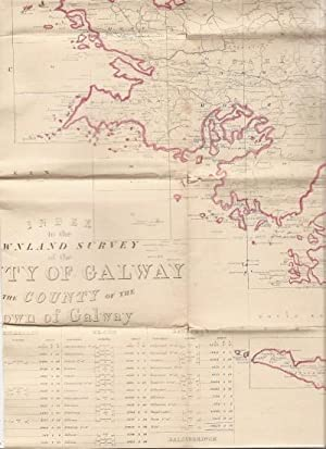 Index to the Townland Survey of County Galway West. Map.