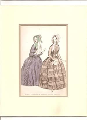 Victorian Dress. Public Promenade & Morning Visiting Dresses- Print of.