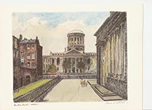 The Four Courts, Dublin. Print.: Mitchell, Flora.