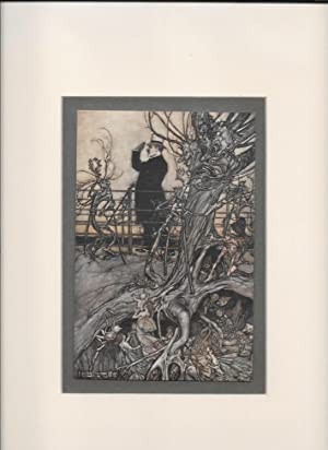 Peter Pan in Kensington Gardens.- Print from.: Rackham, Arthur Illustrator: